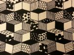 NEW! 3D CUBES - Fabric 80% Cotton 20% LINEN - Price Per Metre